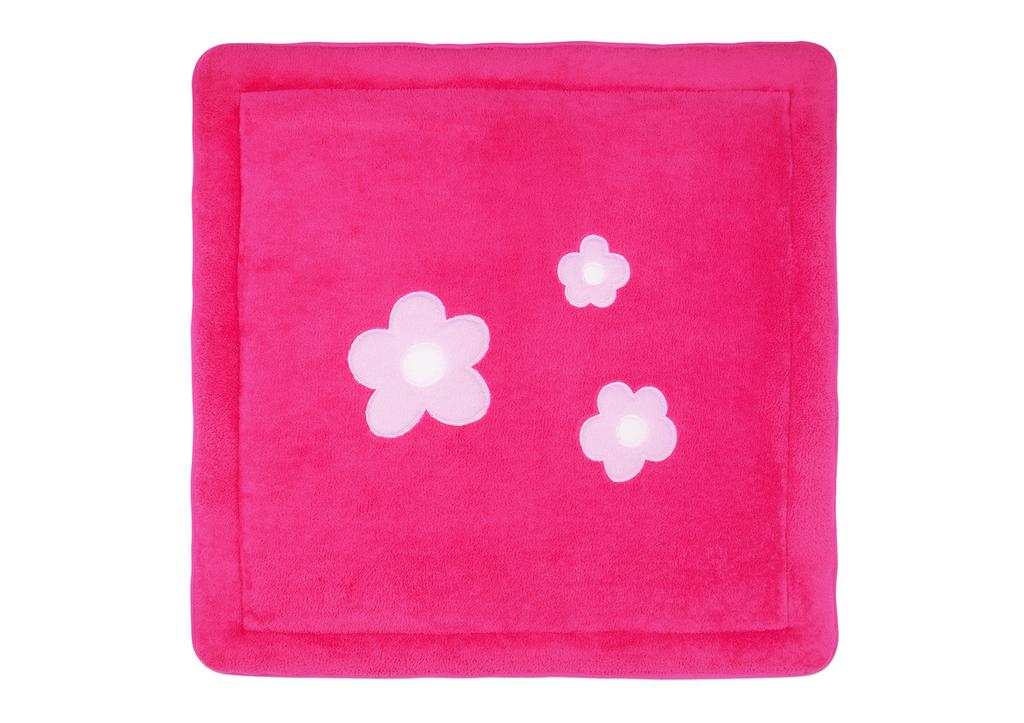 tapis de parc bemini velours 100x100 lizie pink. Black Bedroom Furniture Sets. Home Design Ideas